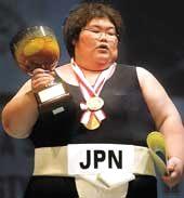Sumo Japanese woman champ