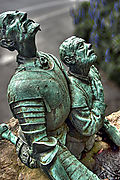 Cuba don quixote and sancho panza statue