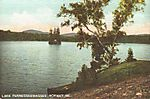 Maine old postcard lake