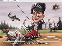Palin royalty in dog sled