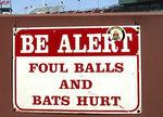 Foul balls hurt