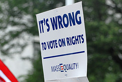 Marriage wrong to vote on rights