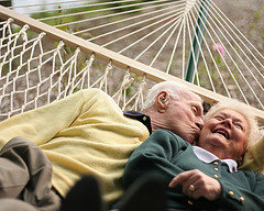 Aids couple in hammock