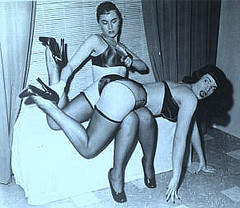 Bettie Page being spanked