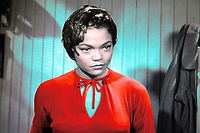 Eartha kitt in red