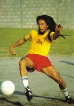 Bob-Marley playing football