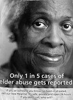 Elder poster 1 in 5 reported