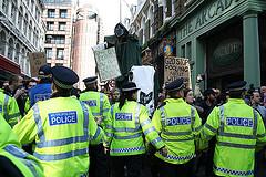 G20 police restraining