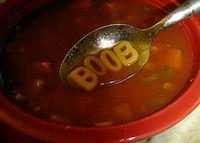 Boob alphabet soup