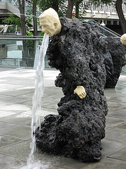 Liddy vomit sculpture