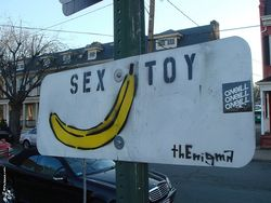 Sex toy sign banana