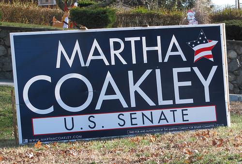 Election sign coakley