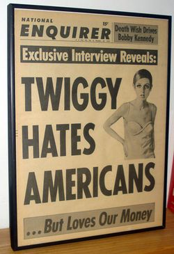 Natl enquirer cover with twiggy