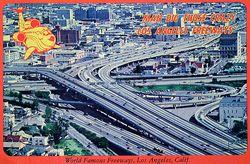 T&L LA freeway postcard