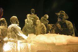Rembrandt ice sculpture