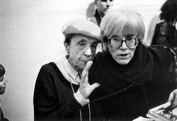 Louise bourgeoise and andy warhol