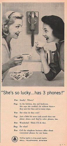 Telephone chat