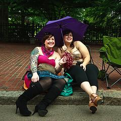 Pride cuties under umbrella