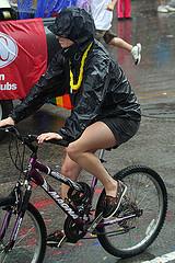 Pride wet bikerider