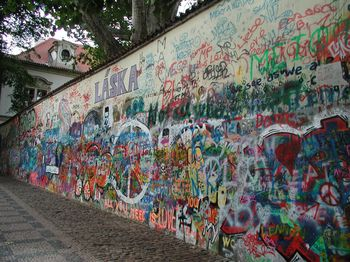 Prague Lennon peace wall