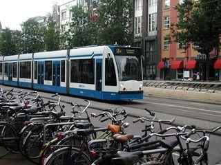 Amsterdam Metro and bikes