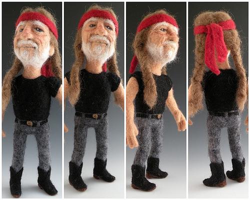 Willie nelson in felt
