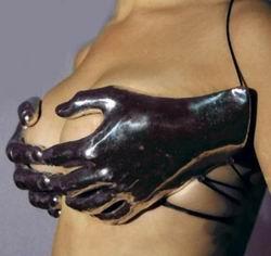 Bra black gloves