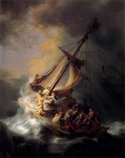 Rembrandt Christ in the Storm on the Sea of Galilee