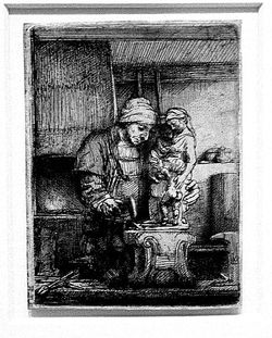 Rembrandt etching The Goldsmith