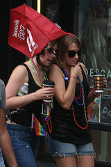 Pride bag as umbrella