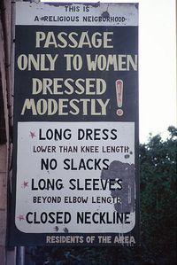 Askenazi sign of women's modesty