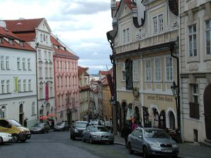 Prague street from the hill