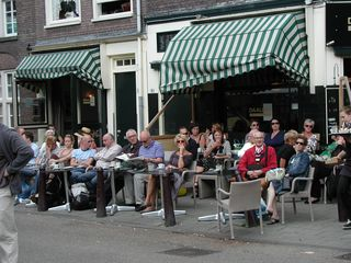 Amsterdam Jordaan cafe tables