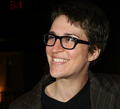 Maddow in glasses