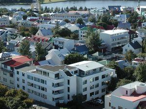 Iceland Reykjavik panoramic view