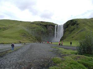Iceland Skogar  waterfall