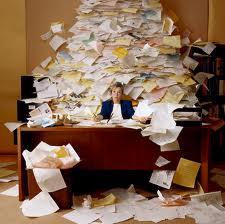 List at desk paper