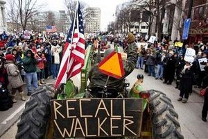 Wisconsin recall walker tractor