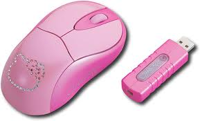 Mouse wireless pink