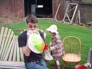 May day matt blowing up ball w sadie