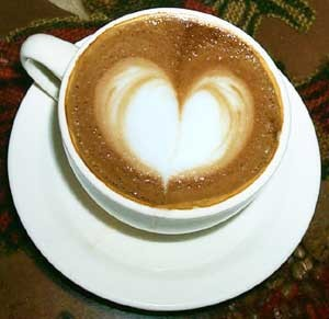 Lond coffee heart