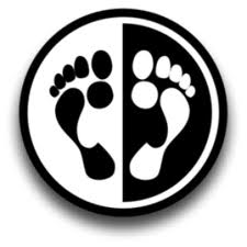 Toe feet yinyang