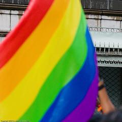 Dyke march rainbow flag
