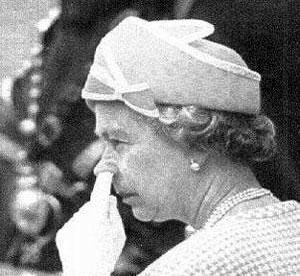Etiquette queen picking nose