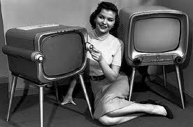 London old tv and girl