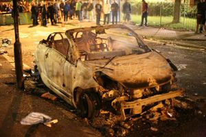 Pembury burnt car