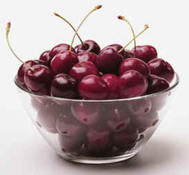Lond bowl of cherries