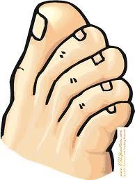 Toe cartoon foot2