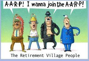 AARP village people