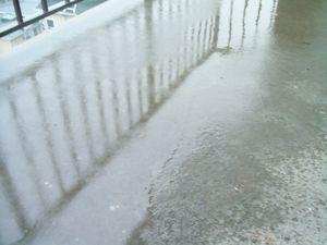Irene wet balcony